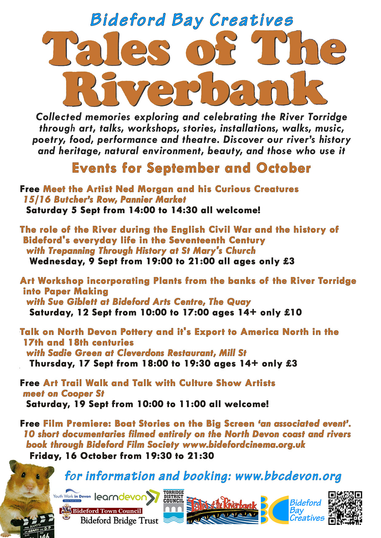 Tales Of The Riverbank Events July To September