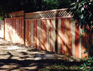 Better Built Construction a Medford Fence Company Redwood Fence.
