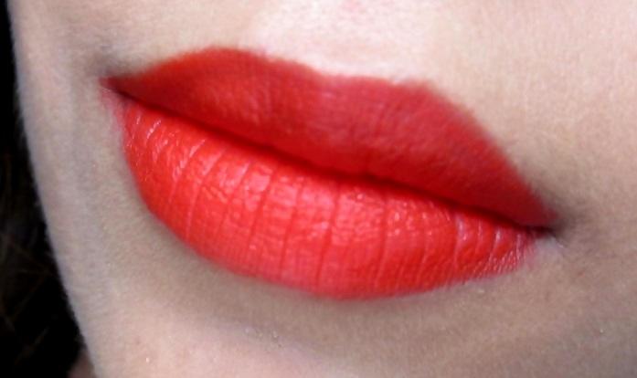 MAC Retro Matte Lipstick Dangerous Review Swatches Photos (3)