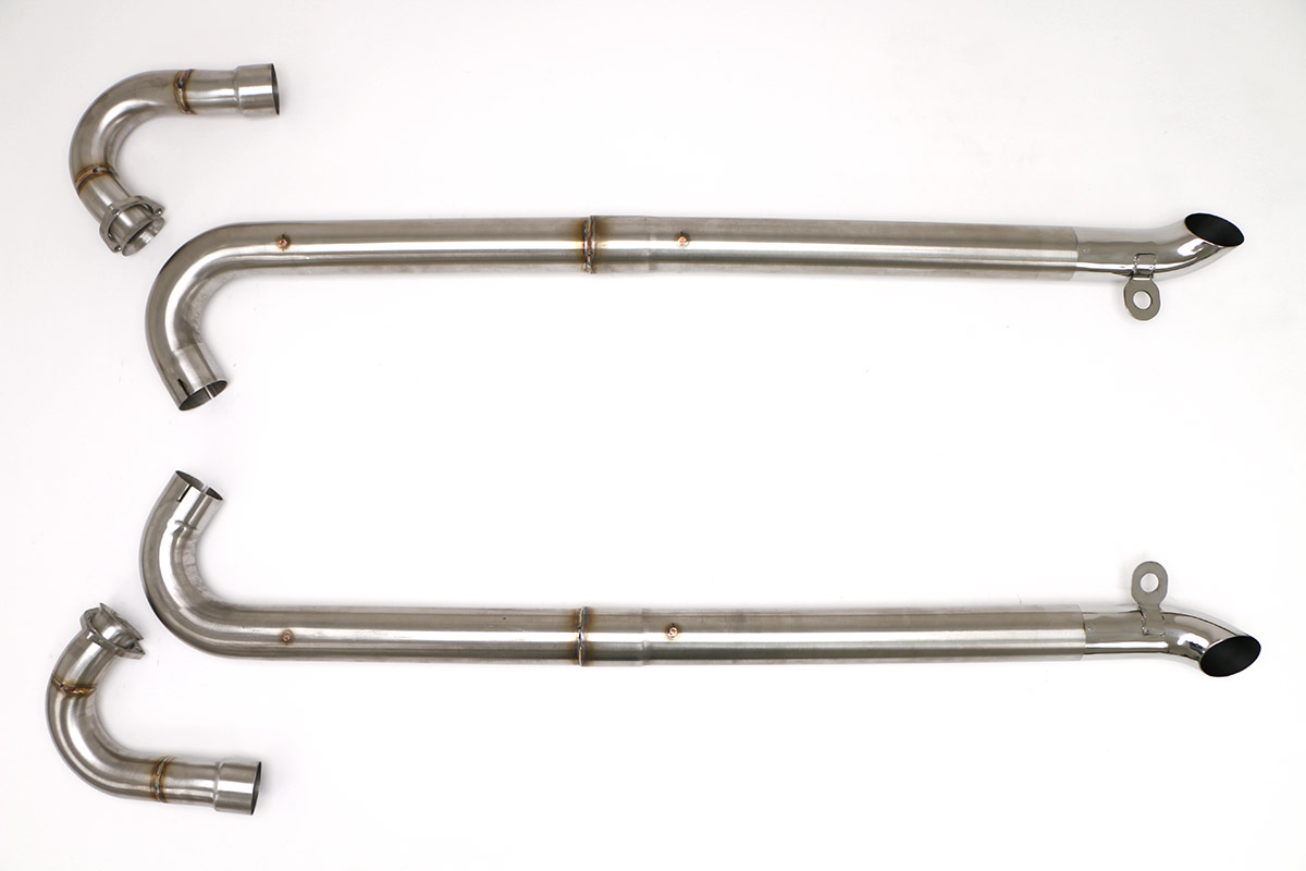 chevy c2 c3 corvette ls conversion side pipes 3 brushed stainless finish fcor 0590