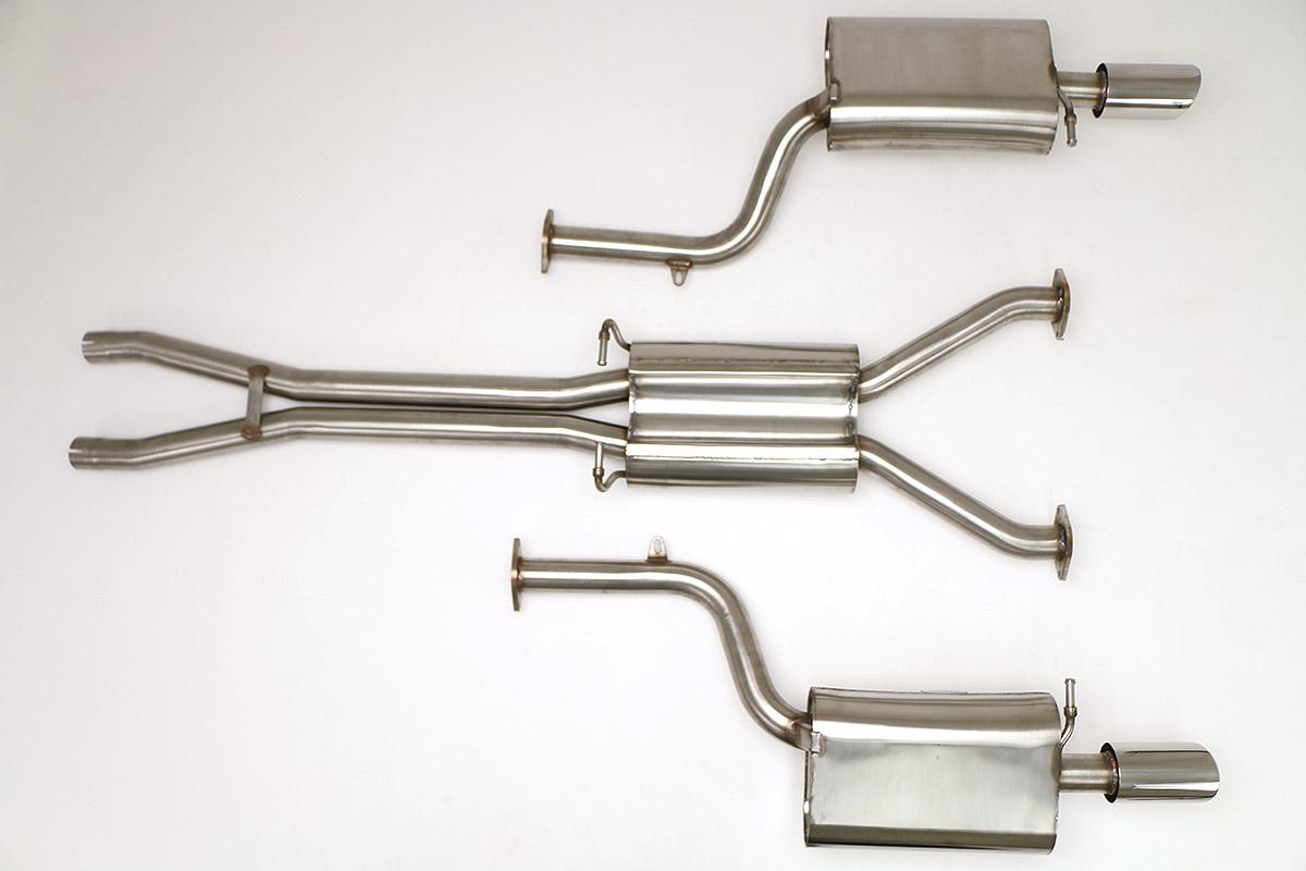 audi b6 s4 cat back exhaust system 4 2l round tips fpim 0540