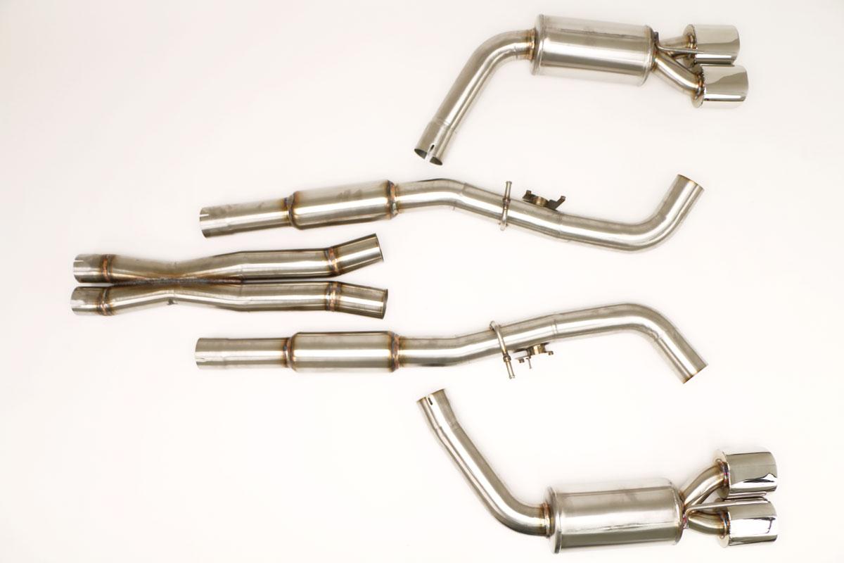 dodge challenger srt hellcat cat back exhaust system oval tips 6 2l fdom 0635