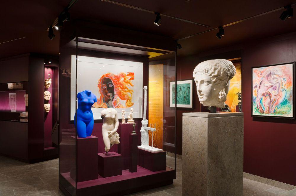 General view of the 'Gods & Godesses - Social Customs' gallery © Musée d'Art Classique de Mougins (MACM) 2016 - christian levett