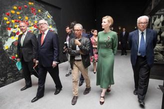 Rupert Myer, Sen. The Hon. George Brandis QC, Simon Mordant, Cate Blanchett, Paulo Barratta.