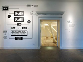 dimitris daskalopoulos from death to death and other small tales exhibition foyer