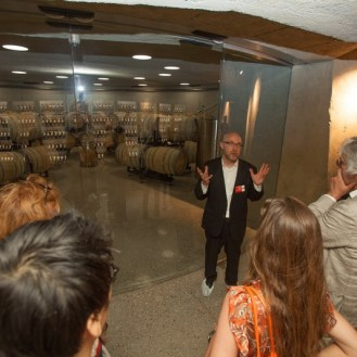 jean nouvel art russe grand opening saint emilion fermentation chamber