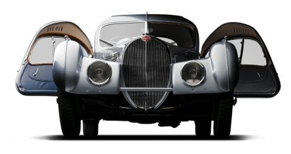 peter mullin car collection bugatti atlantic 1936 front