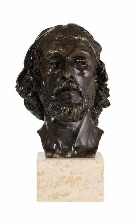 rodin bronze head st john baptist 1879
