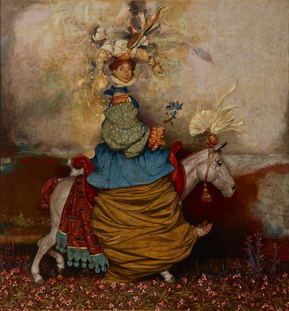 erol-tabanca-collection-Daron-Mouradian-Queen-No12014-Oil-on-Canvas-160-x-150cm-Fotoğraf-Ozan-Çakmak