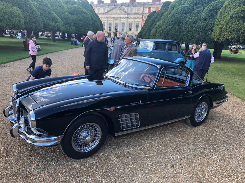 concours of elegance 2020 1957 Jaguar 150 S by Bertone