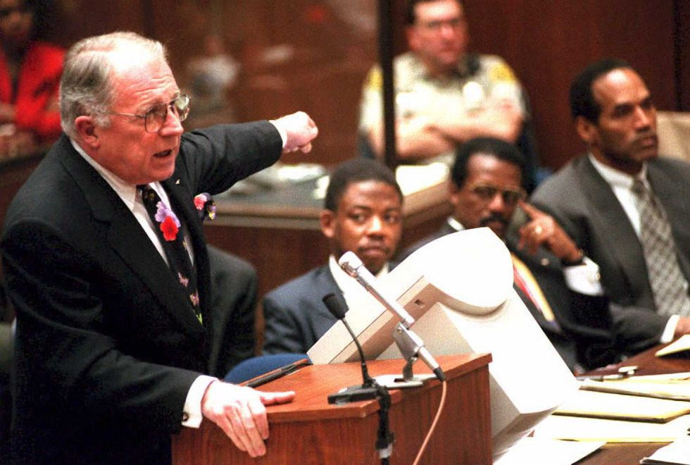 f. lee bailey speaking at o.j. simpson's trial