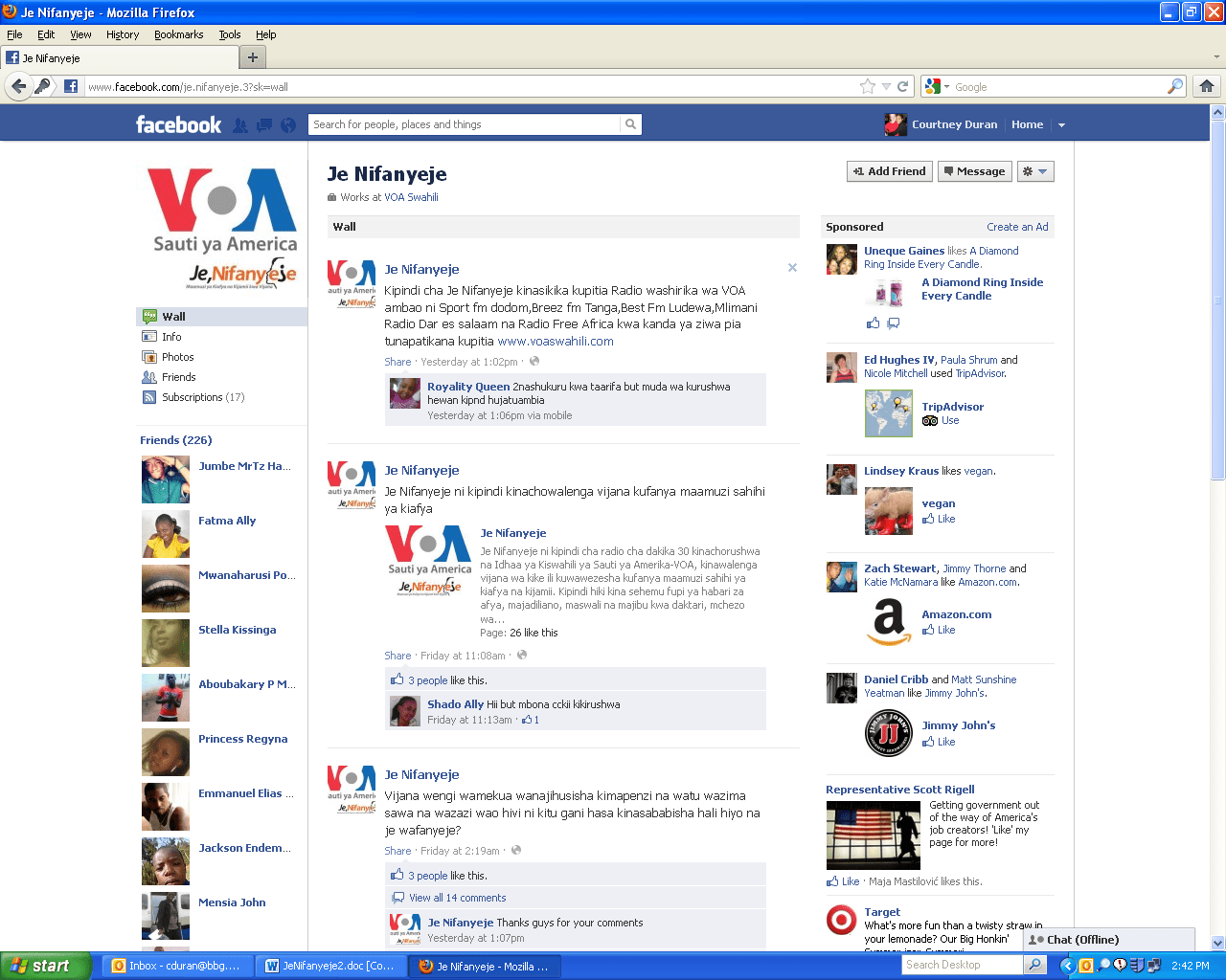 Voice Of America Washington Dc