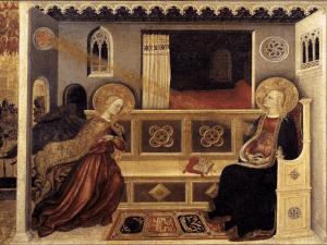 Gentile da Fabriano, Annunciazione (1423-5) Pinacoteca Vatican