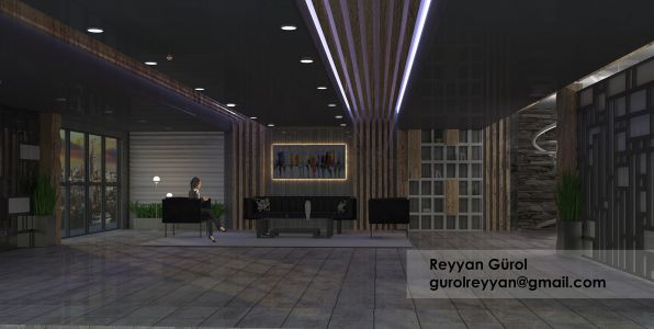 Reyyan iç mekan Modelling Render Ankara