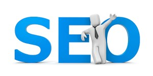 3d people and SEO. Business metaphor