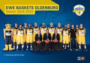 EWE Baskets Oldenburg Teamportrait