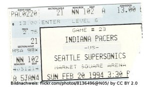 Ticket NBA Indiana vs Seattle