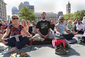 Thich Nhat Hanh visits Boston