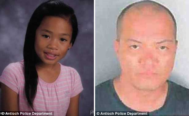 Suspect: Ramirez noticed a man, David Douglas, pictured right, acting strangely in the Pittsburg Target Friday morning. He later abducted 7-year-old Natalie Calvo, pictured left, police say