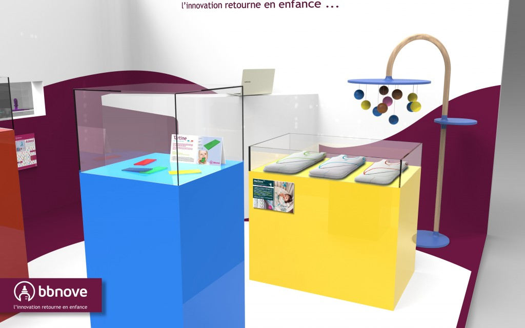bbnove e-shop puériculture design - concept store made in france pour bébés Pop-up Store bbnove - une boutique puériculture innovante - vue close-up 2