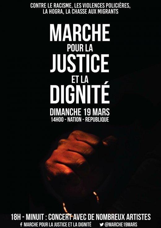 Marche pour la Justice et la Dignité le 19 mars 2017 à Paris