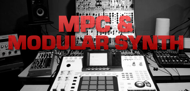 Using an MPC to Sequence a Bass Line on a Modular Synth