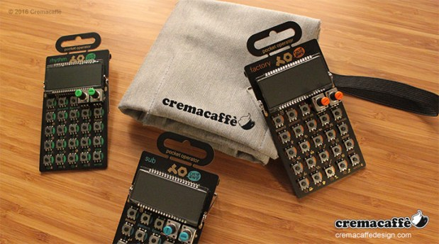 GoPocket is the dream companion of all Pocket Operator owners! It will keep your micro synths cozy and safe while you are on the move, unfolding in style only once at destination. http://cremacaffedesign.com