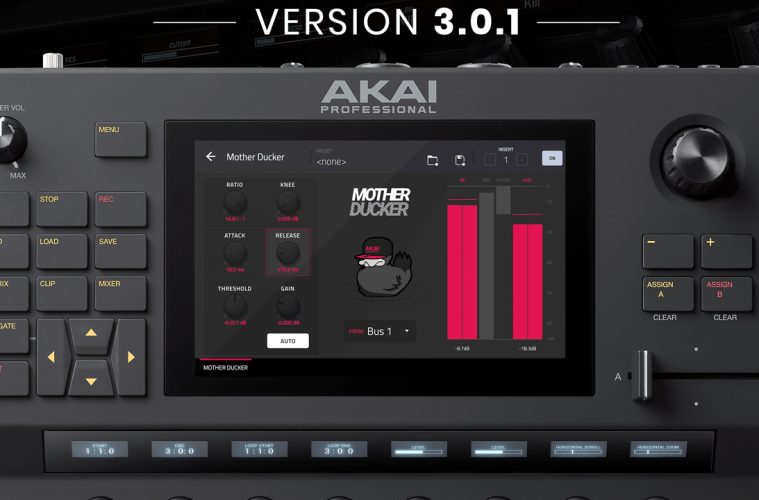 Akai Professional Announces 3 0 1 Firmware Update for Force