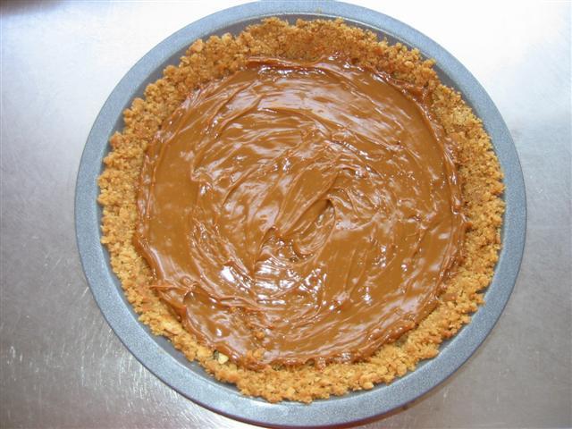 Banoffee pie, de bodem