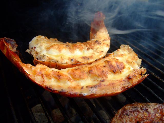 Langoest van de barbecue