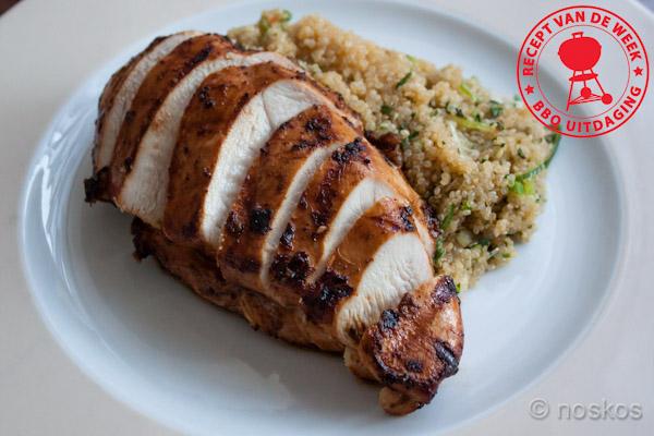 gemarineerde kip met quinoa salade