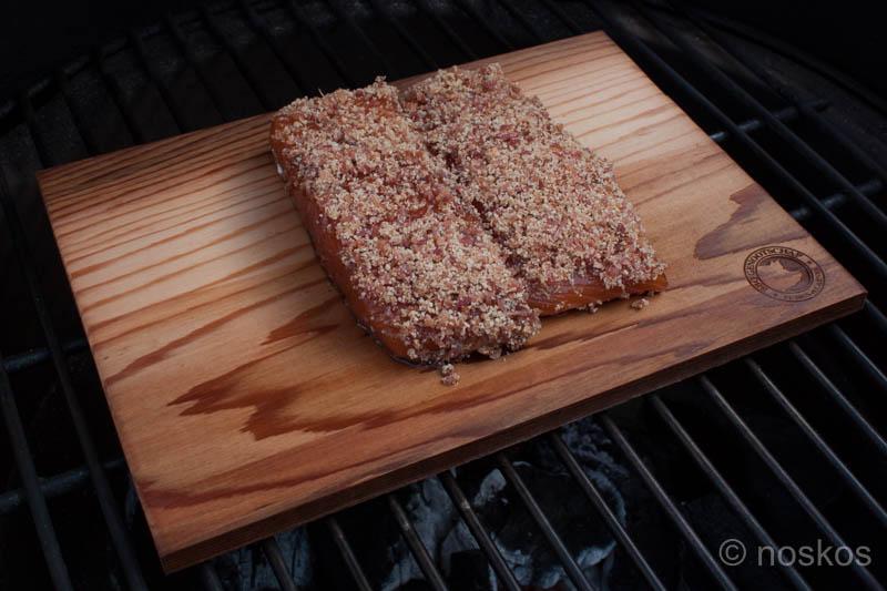 Zalm met baconkorst