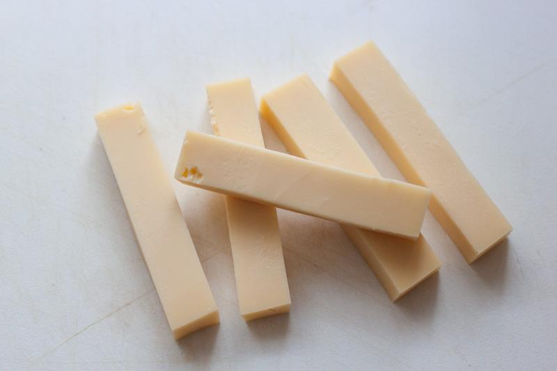 Bacon-kaassticks, de kaas