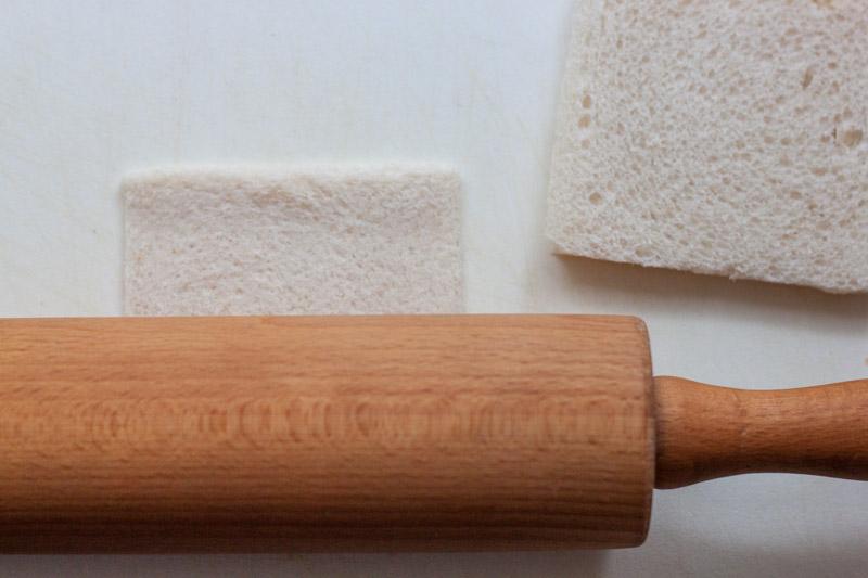 Bacon-kaassticks, het brood