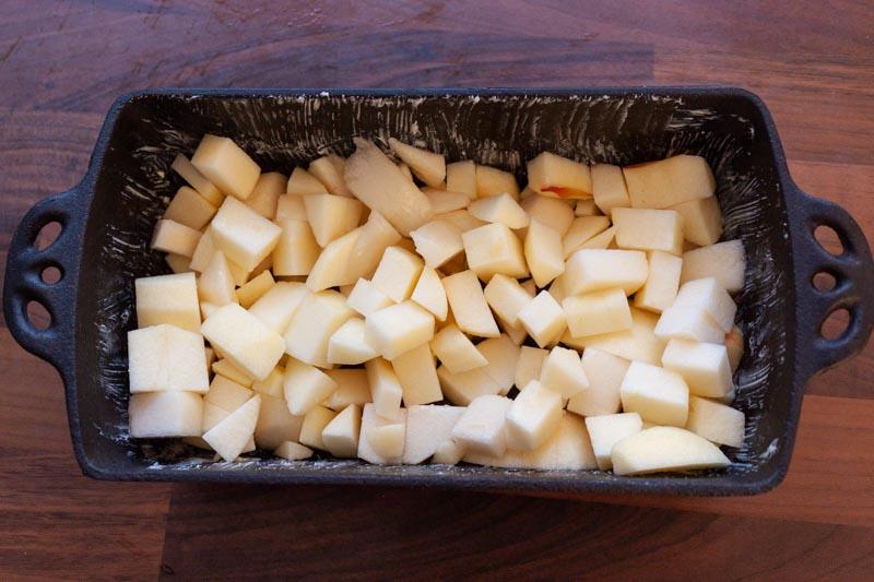 Appel-perencrumble - het fruit