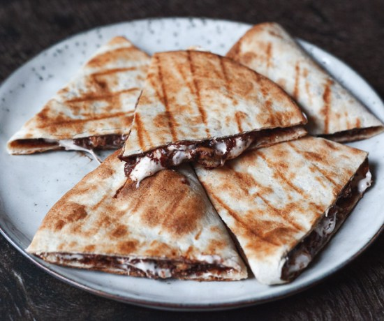 S'mores quesadillas met nutella