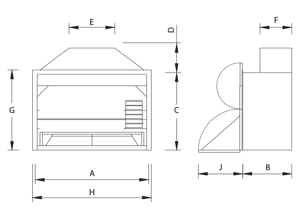 Build-In Braai Dimensions