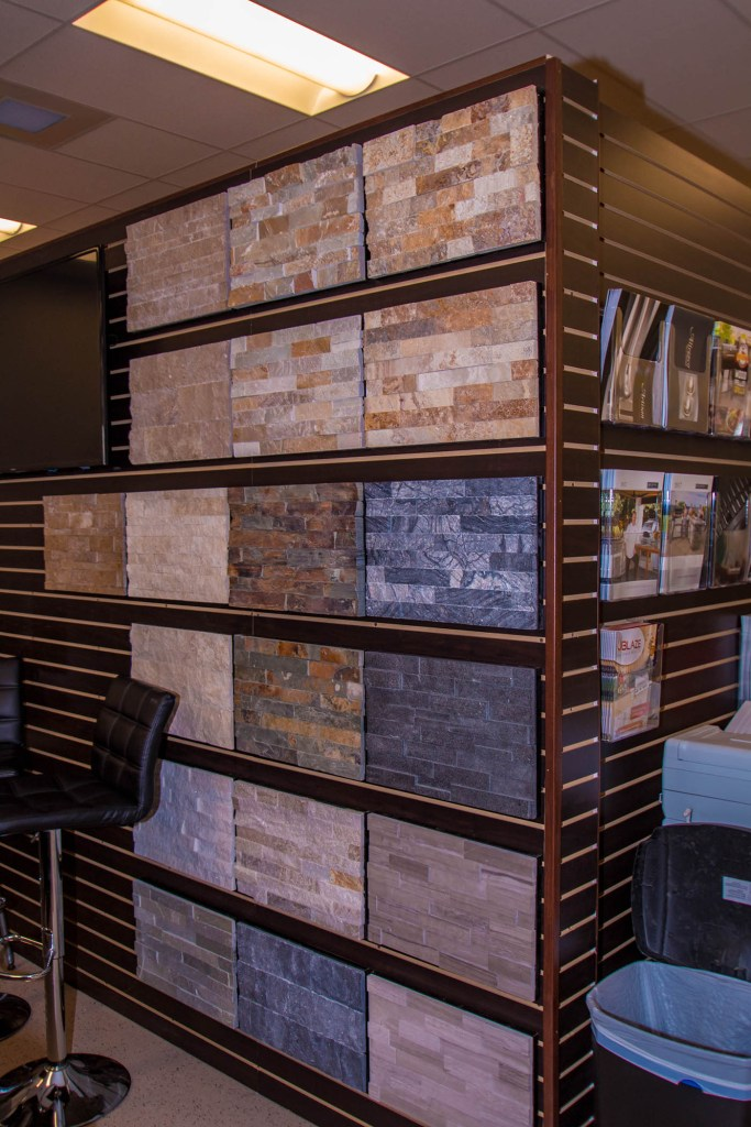 Stacked Stone Sample Wall at BBQ Concepts of Las Vegas, Nevada
