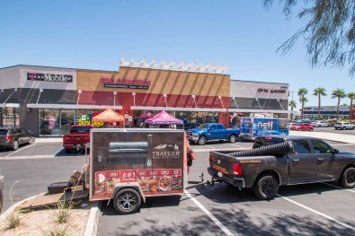 The Traeger Wood Fired Grills Truck & Trailer at BBQ Concepts Grand Opening Event