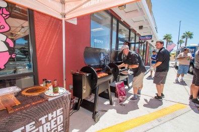 Traeger Wood Fire Grills Booth at the BBQ Concepts Grand Opening