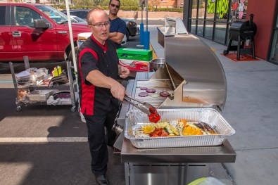 Celebrity Chef Phillip Dell instructing our BBQ Concepts class