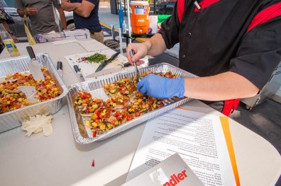 Chef Phillip Dell's Vegetable Bruschetta at Back to Basics Grilling Class - Saturday, September 16th 2017 — at BBQ Concepts.