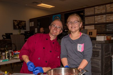 Chef Dell and Tatem at The Ultimate Holiday Grilling Class at BBQ Concepts