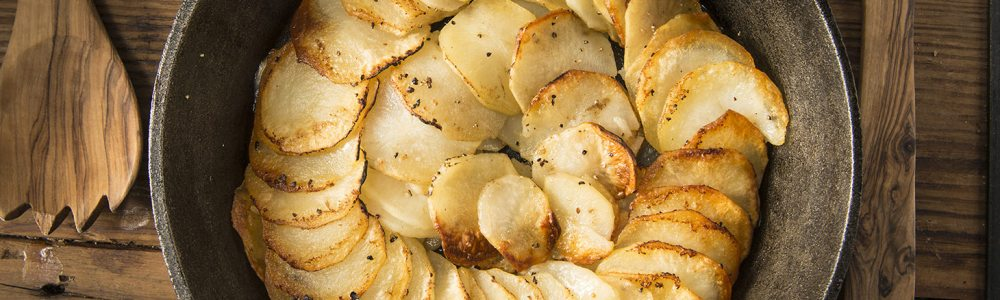 Traeger Recipe - Skillet Baked Potato Cake