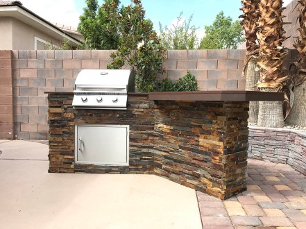 Completed Custom Barbecue Island by BBQ Concepts of Las Vegas, Nevada