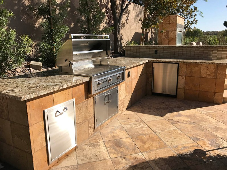 Custom Outdoor Barbecue Island by BBQ Concepts of Las Vegas, Nevada - Outdoor Kitchen Design & Manufacturing Services