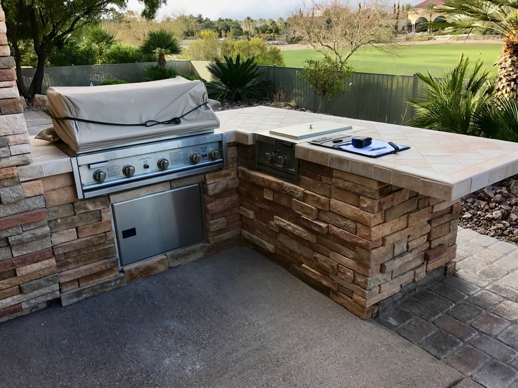 Custom Outdoor Kitchen - Before Redesign Process