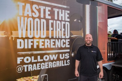 Owners John Cerul (middle) and Omid Mahban (left) Hosting Traeger Shop Class