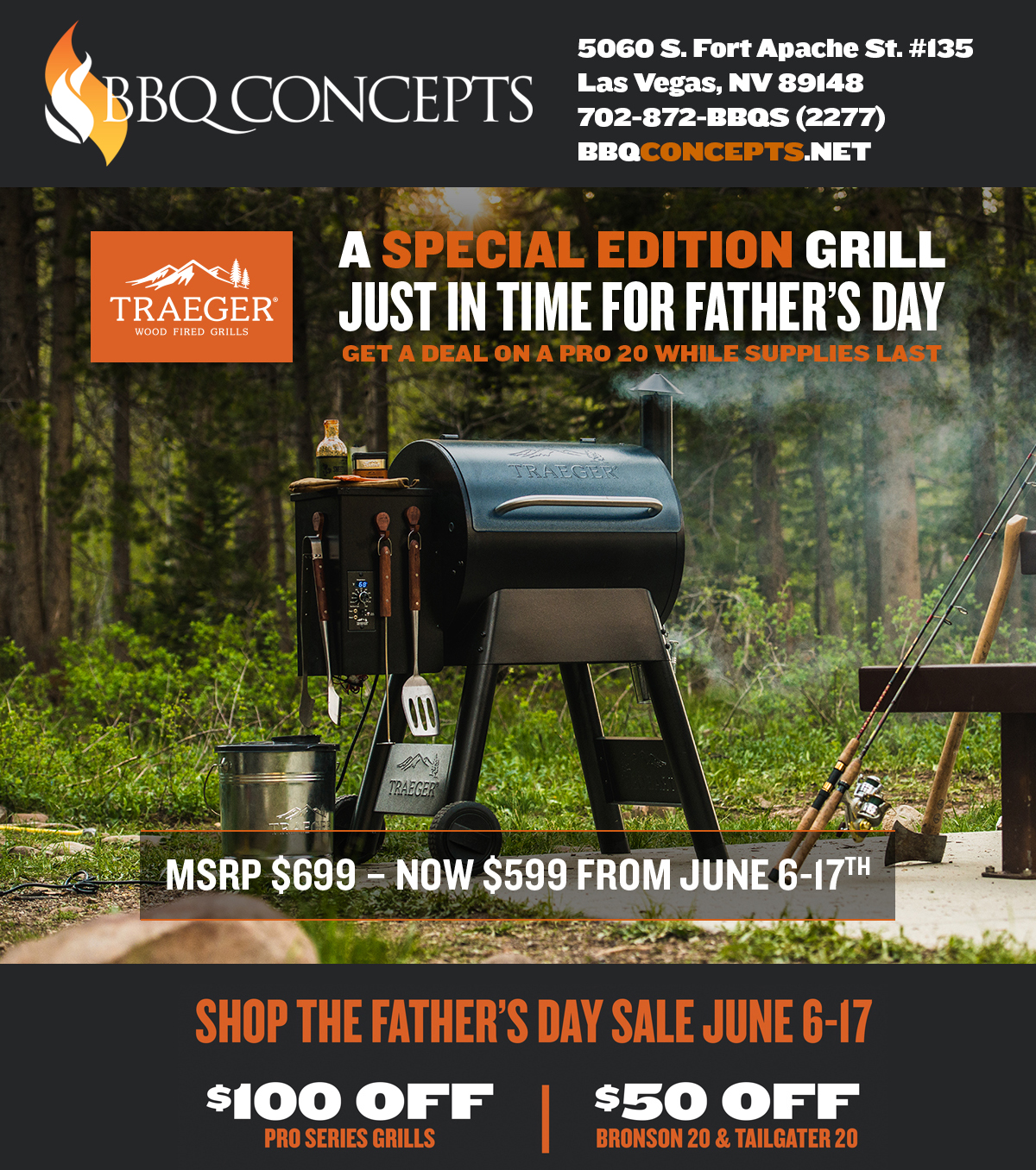 Saturday, May 12th, 2018 - National Traeger Day at BBQ Concepts