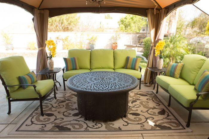 ariana 4 piece set deep seat sofa love seat club chair fire table